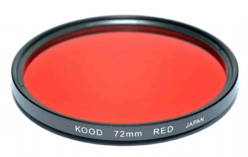 Kood High Quality Optical Glass Red Filter Made in Japan 72mm